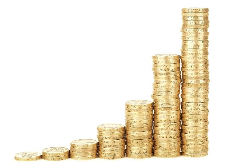 複利的に増加しているコイン